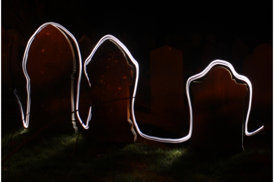 Painting with light experiment by Andy Byrne