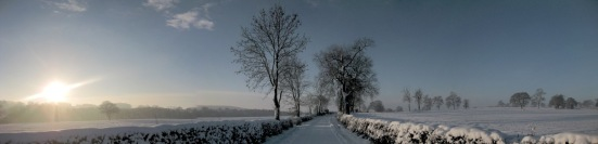 Honeyknab Lane Snowy Panoramic by S. Bernacki