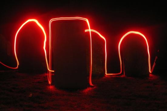 Painting with light gravestones - Simon B