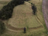 Aerial images of Oldox camp,Oxton