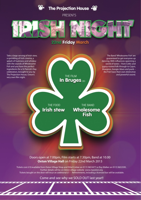 The projection house Irish night POSTER 2013