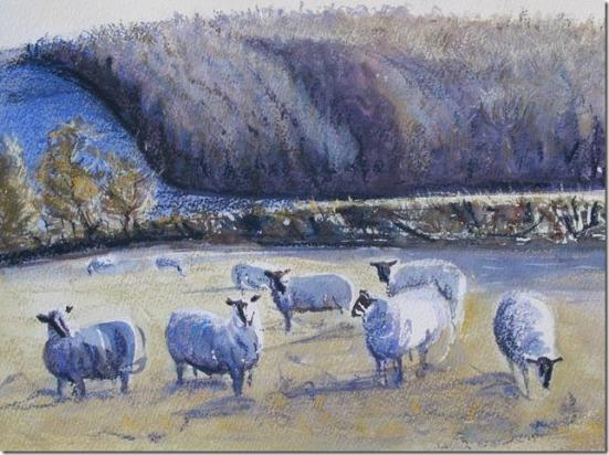 sheep on the tumulus