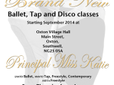 New ballet, tap and disco classes at Oxton VillageHall