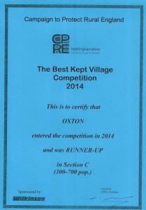 Best Kept Village 2014 Runner-up_small