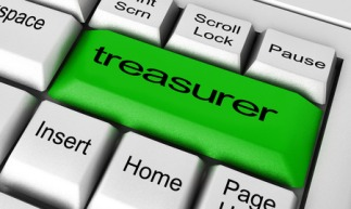 51933235 - treasurer word on keyboard button